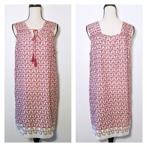🆕NWT Max Studio Boho Tie Neck Dress